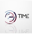 abstract logo idea time concept or clock vector image vector image