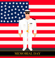 american military officer vector image vector image