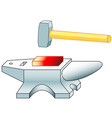 anvil and hammer vector image vector image