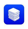 arranged clothes icon blue vector image