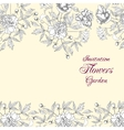 Background with bouquet of flowers vector image vector image
