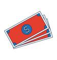 banknote bank money currency cash icon vector image vector image