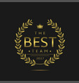 best team label vector image vector image