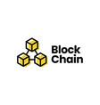 block chain logo icon vector image vector image