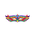 bright colored mask for masquerade costume vector image