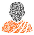 buddhist monk collage of dollar and dots vector image vector image