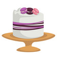 cake isolated icons confectionery product vector image vector image