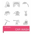 Car wash icon set vector image vector image