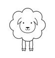 cartoon sheep line outline icon wool textile sign vector image