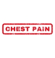 Chest Pain Rubber Stamp vector image vector image