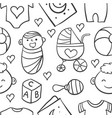 collection stock of baby doodles vector image vector image