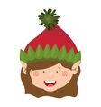 color image of gnome girl head vector image vector image