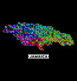 colored dot jamaica map vector image