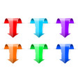 colored down arrows 3d shiny icons vector image vector image