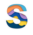 colorful letter s vector image vector image