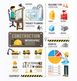 Construction Template Design Infographic vector image vector image