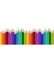 crayons - seamless row colored pencil vector image vector image