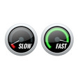 credit score indicator or fast and slow download vector image