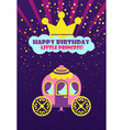 crown and carriage happy birthday princess vector image vector image