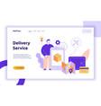 delivery service design concept web banner vector image