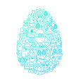 easter line icon egg design vector image vector image