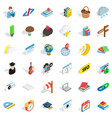 every day icons set isometric style vector image vector image