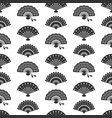 fans silhouettes seamless pattern vector image