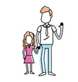 father with his daughter together and holding vector image