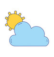 full color sun and cloud natural summer weather vector image vector image