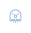 ghost line icon concept ghost flat symbol vector image vector image