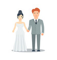 happy just married icon vector image