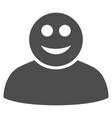 happy person flat icon vector image vector image