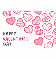 happy valentines day background with hearts vector image vector image