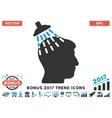 Head Shower Flat Icon With 2017 Bonus Trend vector image vector image