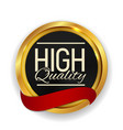 high quality golden medal icon seal sign isolate vector image vector image
