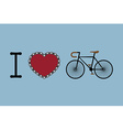 I love bicycle vector image vector image