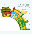 jaipur india city skyline with color buildings vector image vector image