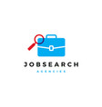 job search match briefcase puzzle logo icon vector image
