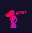 keto diet vector image