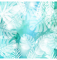leaves on green watercolor background vector image