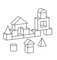 line style toy building tower vector image