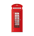 london phone booth isolated vector image vector image