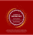 merry christmas card with creative design and red vector image vector image