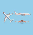 modern passenger airplane airliner in top side vector image vector image