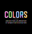 modern style colorful font vector image vector image