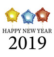 new year 2019 beautiful greeting card with vector image vector image