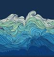 ocean waves border vector image vector image