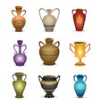 old vases isolated on white vector image