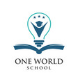 one word school logo vector image vector image