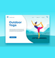 outdoor yoga classes landing page outdoor banner vector image vector image